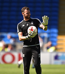Andy Lonergan of Fulham warms up before the Sky Bet Championship game between Cardiff City and Fulham on 8 August 2015 in Cardiff, Wales  - Mandatory by-line: Paul Knight/JMP - Mobile: 07966 386802 - 08/08/2015 -  FOOTBALL - Cardiff City Stadium - Cardiff, Wales -  Cardiff City v Fulham - Sky Bet Championship