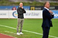 Fotball, 31. august 2019 , Eliteserien , Stabæk - Strømsgodset 2-1<br /> Henrik Pedersen , trener SIF bak <br /> Jan Jønsson , trener Stabæk<br /> Jan Jonsson