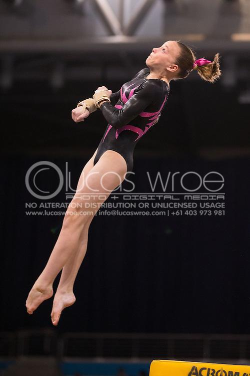 Vault, May 25, 2014 - GYMNASTICS : Australian National Gymnastics Championships, Hisense Arena, Melbourne, Victoria, Australia. Credit: Lucas Wroe / Winkipop Media