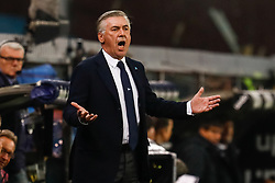 November 10, 2018 - Genoa, Italy - Napoli head coach Carlo Ancelotti reacts during the Lega Seria A match between Genoa CFC and SSC Napoli on November 10, 2018 at Stadio Luigi Ferraris in Genoa, Italy. (Credit Image: © Mike Kireev/NurPhoto via ZUMA Press)