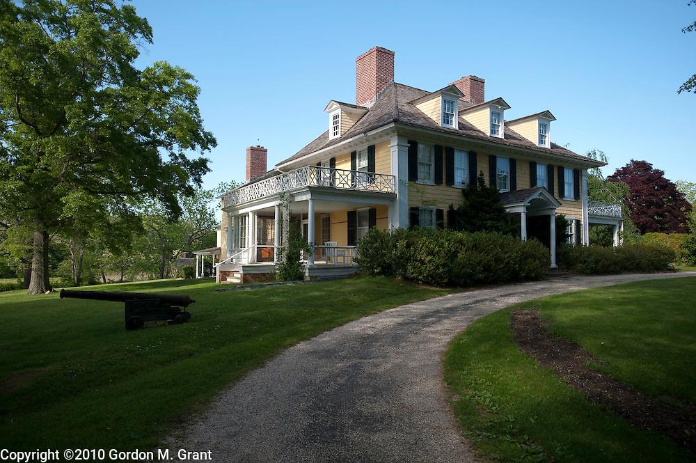 Shelter Island, NY - 5/24/10 - The manor house at Sylvester Manor, an organic farm and former slave plantation, on Shelter Island, NY, May 24, 2010.     (Photo by Gordon M. Grant)