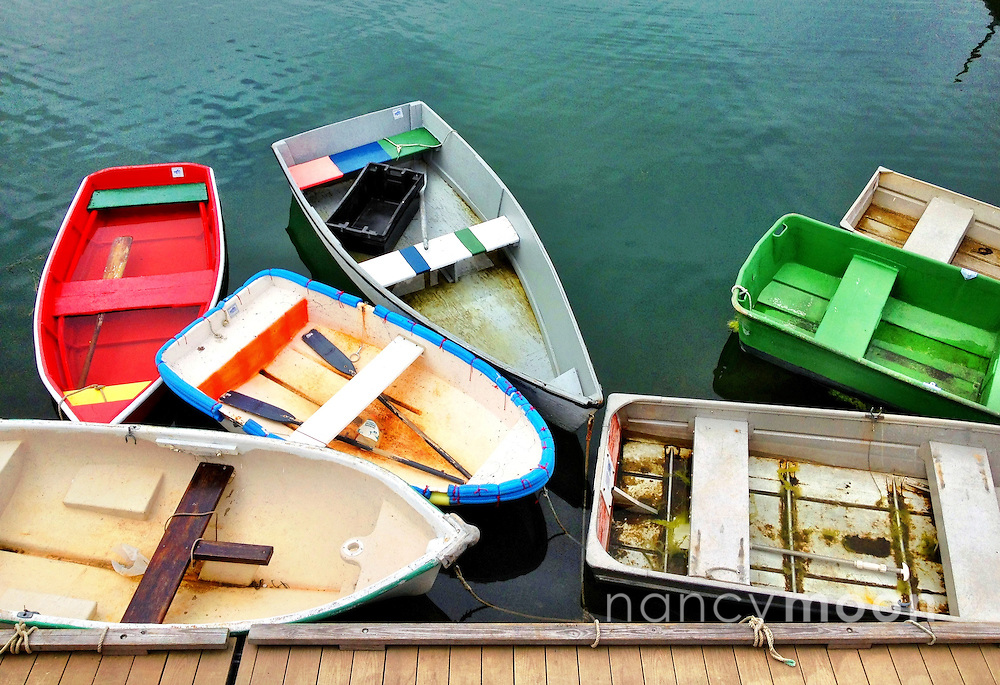 Rowboats in Cape Cod.<br />