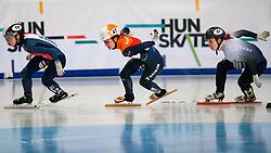 Short tracker Yara van Kerkhof in action on the 1500 meter semifinals during ISU European Short Track Speed Skating Championships 2020 on January 25, 2020 in Fonix Hall, Debrecen, Hungary