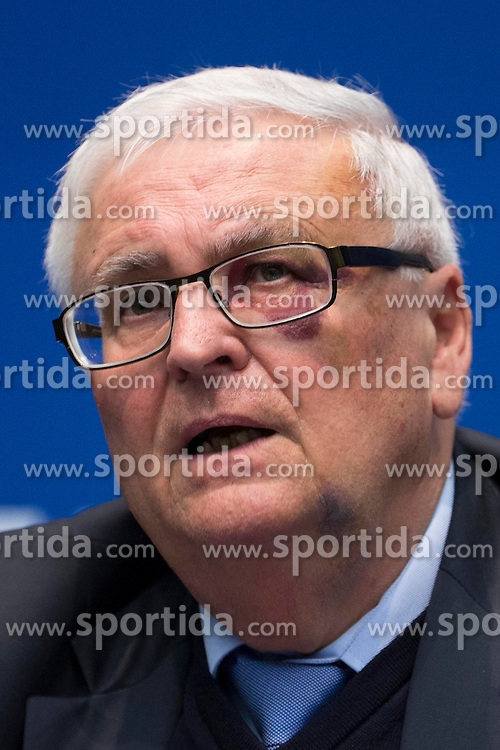 21.03.2014, Home of FIFA, Zuerich, SUI, FIFA, Pressekonferenz des Exekutivkomitee, im Bild Theo Zwanziger // during a press conference of the FIFA Executive Committee at the Home of FIFA in Zuerich, Switzerland on 2014/03/21. EXPA Pictures © 2014, PhotoCredit: EXPA/ Freshfocus/ Andreas Meier<br /> <br /> *****ATTENTION - for AUT, SLO, CRO, SRB, BIH, MAZ only*****