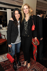 Left to right, PATRICIA DENTE and ALEXANDRA COURT at a private view of Atelier-Mayer.com's collection held at 131 Oakwood Court, London, on 24th November 2009.