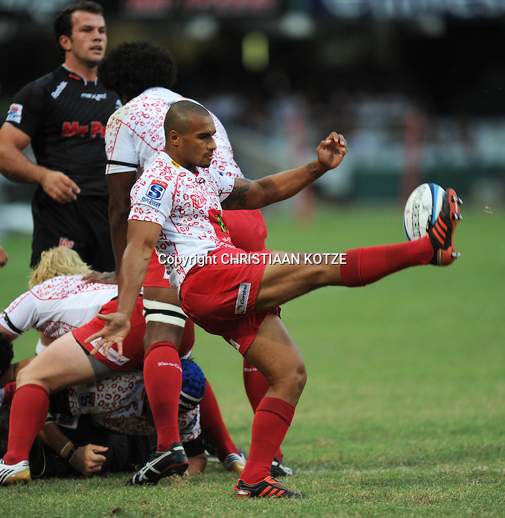 Will Genia of the Reds. <br /> &copy;Backpagepix