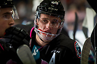 KELOWNA, BC - NOVEMBER 03:  Nolan Foote #29 of the Kelowna Rockets stands at the bench against the Brandon Wheat Kings at Prospera Place on November 3, 2018 in Kelowna, Canada. (Photo by Marissa Baecker/Getty Images) ***Local Caption***Nolan Foote;