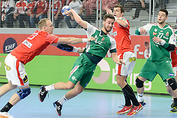 during handball match between National teams of Denmark and Hungary on Day 2 in Preliminary Round of Men's EHF EURO 2018, on Januar 13, 2018 in Skolsko Sportska Dvorana, Varazdin, Croatia. Photo by Mario Horvat / Sportida