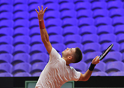 November 22, 2018 - France - Finale Coupe Davis 2018 - Borna Coric - Croatie (Credit Image: © Panoramic via ZUMA Press)