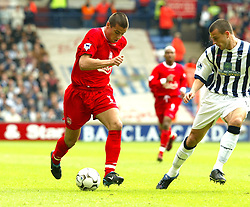 WEST BROMWICH, ENGLAND - Saturday, April 26, 2003: Liverpool's Milan Baros in action against West Bromwich Albion during the Premiership match at the Hawthorns. (Pic by David Rawcliffe/Propaganda)