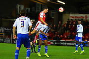 Fleetwood Town Midfielder Eggert Jonsson clears during the Sky Bet League 1 match between Fleetwood Town and Walsall at the Highbury Stadium, Fleetwood, England on 15 March 2016. Photo by Pete Burns.