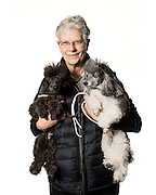 "Claudia McGuire and her Toy Poodles named ""Skye"" and ""Rik"""
