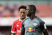 RB Leipzig Ibrahima Konate (6) during the Emirates Cup 2017 match between Leipzig and Benfica at the Emirates Stadium, London, England on 30 July 2017. Photo by Sebastian Frej.