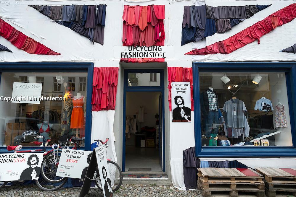 Second-hand shop in Prenzlauer Berg district of Berlin Germany