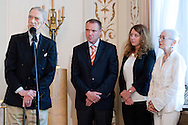 (L) Bohdan Tomaszewski speaks and Kajetan Broniewski former rower and olympic bronze medalist Barceona 1992 during meeting in Belvedere Palace in Warsaw, Poland.<br /> <br /> Poland, Warsaw, July 08, 2013<br /> <br /> Picture also available in RAW (NEF) or TIFF format on special request.<br /> <br /> For editorial use only. Any commercial or promotional use requires permission.<br /> <br /> Photo by © Adam Nurkiewicz / Mediasport