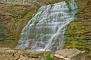 Fifteen Mile Creek ramps over Rockway Falls. Golden Horseshoe. Niagara Peninsula.<br /><br />Ontario<br />Canada