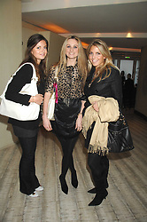 Left to right, LADY NATASHA RUFUS-ISAACS, BRYONY DANIELS and STEPHANIE COATEN at the launch party for 'The End of Summer Ball' in Berkeley Square held at Nobu Berkeley, 15 Berkeley Street, London on 7th April 2008.<br />