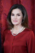 Queen Letizia of Spain attend an official lunch at Palacio Real on October 24, 2018 in Madrid, Spain