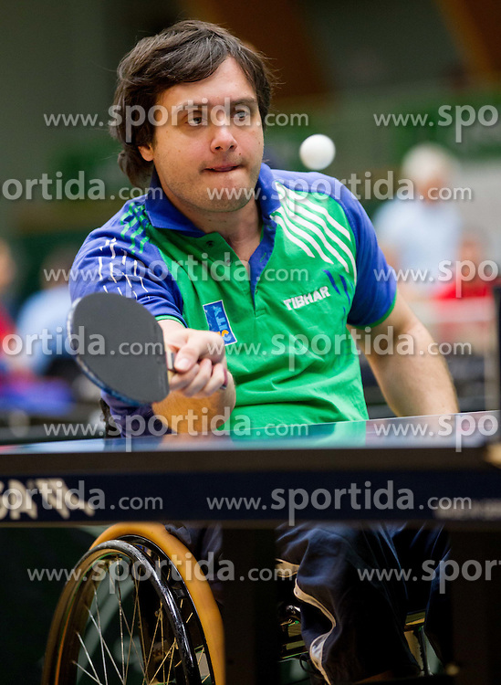 Primoz Kancler of Slovenia at 9th Slovenia Open - Thermana Lasko 2012 - Table Tennis Tournament for the Disabled, on May 12, 2012, in Dvorana Tri Lilije, Lasko, Slovenia. (Photo by Vid Ponikvar / Sportida.com)