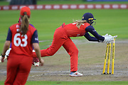 Lancashire Thunders Ellie Threlkeld (Wicket Keeper) during the Women's Cricket Super League match between Lancashire Thunder and Loughborough Lightning at the Emirates, Old Trafford, Manchester, United Kingdom on 20 August 2019.