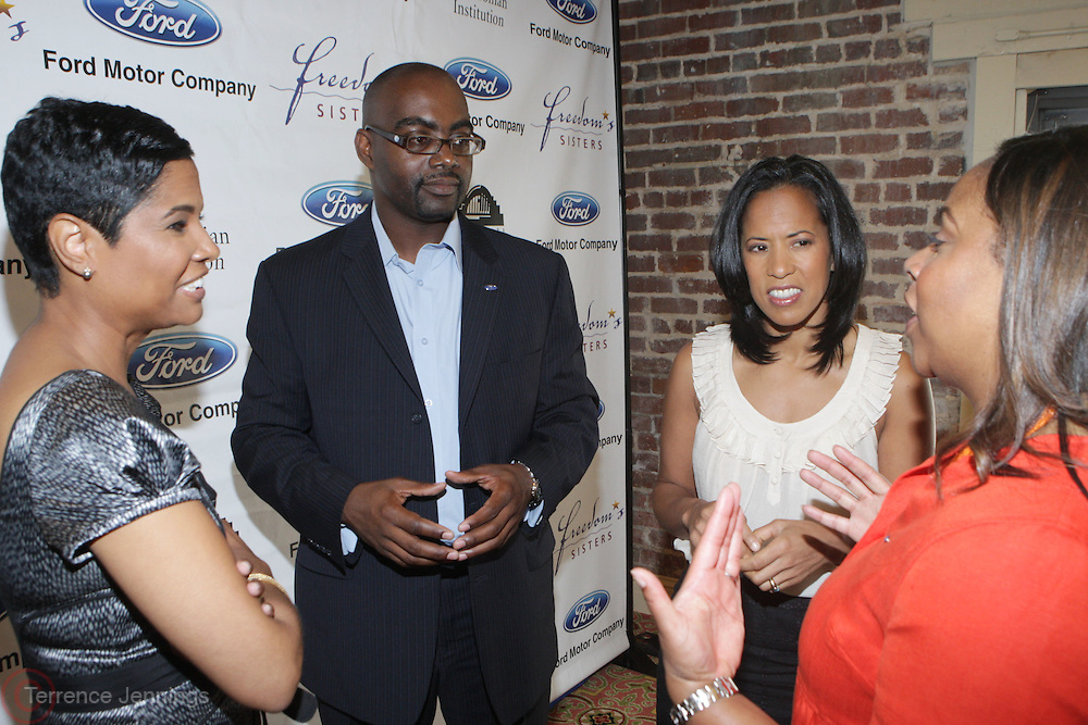l to r: Angela Burt-Murray, Earl Lucas, Michelle Ebanks and Crystal Worthem at The Freedom's Sisters Luncheon sponsored by Ford Motors at The 2009 Essence Music Festival held at The New Orleans Marriott Convention Center on July 2, 2009 in New Orleans, Louisiana