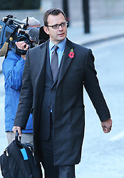 Andy Coulson arriving for the start of the second week of the phone hacking trial at the Old Bailey in London, 4th November 2013. Picture by Stephen Lock / i-Images
