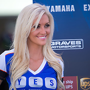 August 4, 2013 - Tooele, UT - Graves Yamaha Umbrella Girls pose for photographs during AMA Pro Road Racing festivities at Miller Motorsports Park.