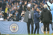 Former Manchester City forward Sean Goater during the The FA Cup 3rd round match between Manchester City and Rotherham United at the Etihad Stadium, Manchester, England on 6 January 2019.