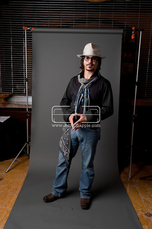 24th February 2011. Las Vegas, Nevada.  Celebrity Impersonators from around the globe were in Las Vegas for the 20th Annual Reel Awards Show. Pictured is Ronnie Rodriguez who has worked as Johnny Depp's photo double several times on film sets including Pirates of the Caribbean. Photo © John Chapple / www.johnchapple.com..