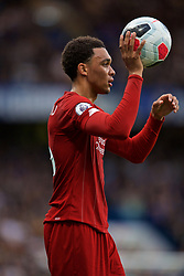 LONDON, ENGLAND - Sunday, September 22, 2019: Liverpool's Trent Alexander-Arnold prepares to take a throw-in during the FA Premier League match between Chelsea FC and Liverpool FC at Stamford Bridge. (Pic by David Rawcliffe/Propaganda)