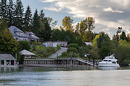 A large house with a view of the Fraser River in Fort Langley, British Columbia, Canada