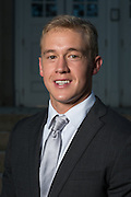 Parker Foard poses for a portrait in front of Ohio University's Memorial Auditorium as part of the College of Business's Emerging Leaders program on September 21, 2016.