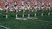 6The Los Angeles Raiders cheerleaders perform during the NFL football game between the Denver Broncos and the Los Angeles Raiders on December 4, 1988 in Los Angeles, California. The Raiders won the game 21-20. ©Paul Anthony Spinelli