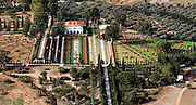 Aerial view of the Bahai gardens in Acre, Israel
