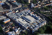 aerial photograph of Chapelfield Shopping Centre,  Merchants Hall Norwich NR1 1SH.  Chapelfield is Norwich city centre's  largest indoor shopping mall.