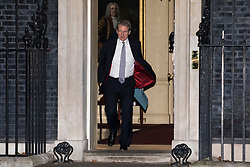 © Licensed to London News Pictures. 08/01/2018. London, UK. New Education Secretary Damian Hinds leaves 10 Downing Street after meeting with Prime Minister Theresa May. Photo credit: Rob Pinney/LNP