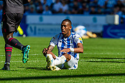 Huddersfield Town Rajiv Van La Parra after been challenged during the EFL Sky Bet Championship match between Huddersfield Town and Reading at the John Smiths Stadium, Huddersfield, England on 24 August 2019.