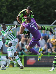 Omar Bugiel of Forest Green Rovers scores the 4th goal- Mandatory by-line: Nizaam Jones/JMP - 19/08/2017 - FOOTBALL - New Lawn Stadium - Nailsworth, England - Forest Green Rovers v Yeovil Town - Sky Bet League Two