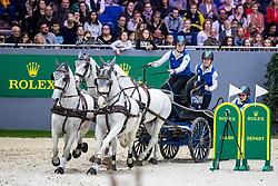 CHARDON Bram (NED), Dreef Inca, Dreef Rezgo, Incitato Pandur, Siglavy Capriola Kapitany<br /> Genf - CHI Rolex Grand Slam 2018<br /> FEI Driving World Cup<br /> 09. Dezember 2018<br /> © www.sportfotos-lafrentz.de/Stefan Lafrentz
