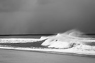High surf at Race Point Beach near Provincetown, Massachusetts after a winter nor'easter storm.