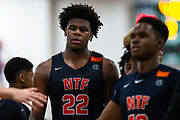 HAMPTON, VA May 26, 2018 - Nike EYBL Session 4. Vernon Carey 2019 #22 of Nike Team Florida walks to the bench. <br /> NOTE TO USER: Mandatory Copyright Notice: Photo by Jon Lopez / Nike