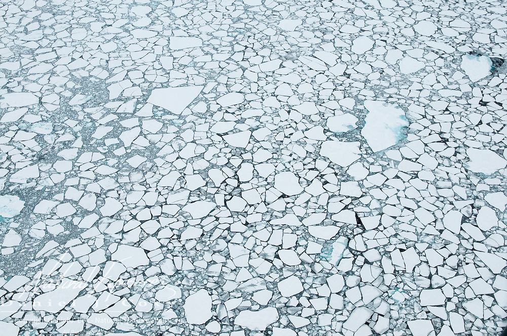 Broken ice in the Beaufort Sea. Arctic Ocean