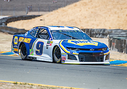 June 22, 2018 - Sonoma, CA, U.S. - SONOMA, CA - JUNE 22:  Chase Elliott, driving the #(9) Chevrolet for Hendrick Motorsports races through turn 8a on Friday, June 22, 2018 at the Toyota/Save Mart 350 Practice day at Sonoma Raceway, Sonoma, CA (Photo by Douglas Stringer/Icon Sportswire) (Credit Image: © Douglas Stringer/Icon SMI via ZUMA Press)