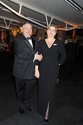 PAUL-FRANCOIS and NATHALIE VRANKEN owners of the Vranken-Pommery Champagne group at the Relais & Chateaux 'Diner des Grands Chefs' held at Old Billingsgate, London EC3 on 22nd April 2013.