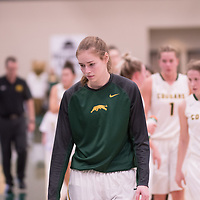 4th year forward Christina McCusker (12) of the Regina Cougars during the Women's Basketball home game on November 24 at Centre for Kinesiology, Health and Sport. Credit: Arthur Ward/Arthur Images