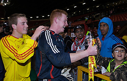 Manchester, England - Thursday, April 26, 2007: Liverpool's goalkeeper David Roberts and Steven Irwin celebrate winning the FA Youth Cup for the second successive year after beating Manchester United on penalties during the FA Youth Cup Final 2nd Leg at Old Trafford. (Pic by David Rawcliffe/Propaganda)