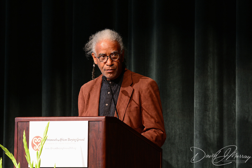 Artist Jerome Meadows addresses the African Burying Ground Community Celebration
