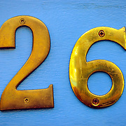 Number 26 blue brass, London, England (July 2007)