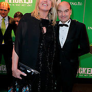 NLD/Scheveningen/20111106 - Premiere musical Wicked, Monique Collignon en partner Jan Holvast