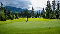 WESTENDORF -  Tirol   Oostenrijk,  - Hole 3. Golfanlage Kitzbuheler Alpen Westendorf.    COPYRIGHT KOEN SUYK